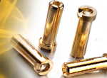 CS-Electronic Low Profil Goldkontaktstecker 5mm