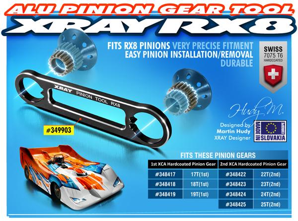 SMI XRAY News RX8 Zahnradwerkzeug aus Aluminium