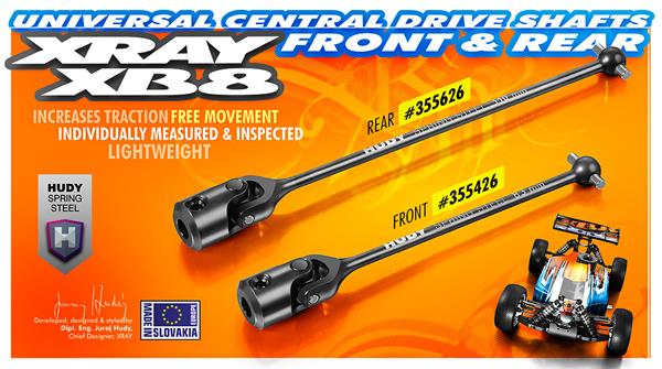 SMI XRAY News XB8 Universal-Zentralantriebswellen