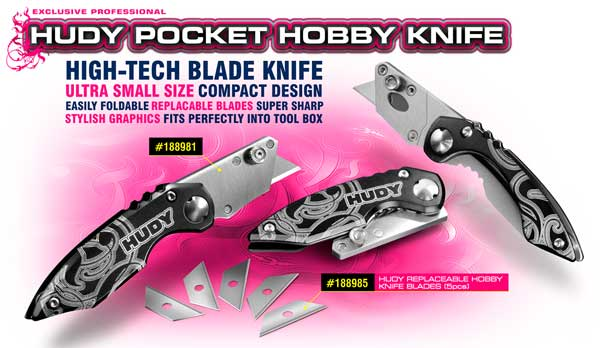SMI HUDY News Hudy Pocket Hobby Messer