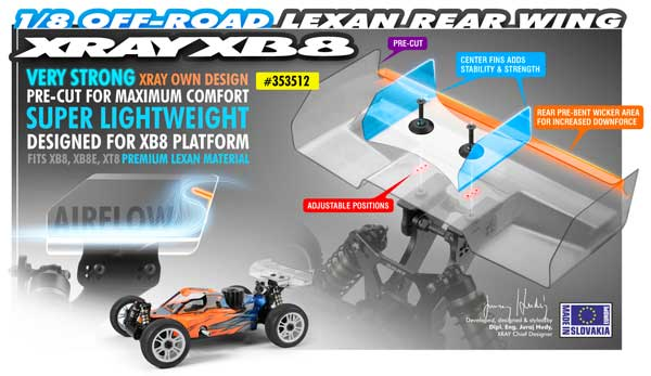 SMI XRAY News Lexan Heckspoiler 1/8 Off Road
