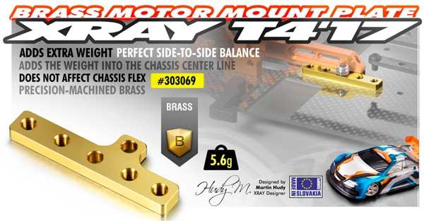 SMI XRAY News T4´17 Messing Motor Montageplatte