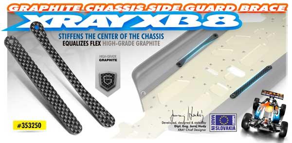 SMI XRAY News XB8 Chassis Graphit-Streben