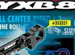 SMI XRAY News XB8 Alu Aufhängungshalter + 2mm
