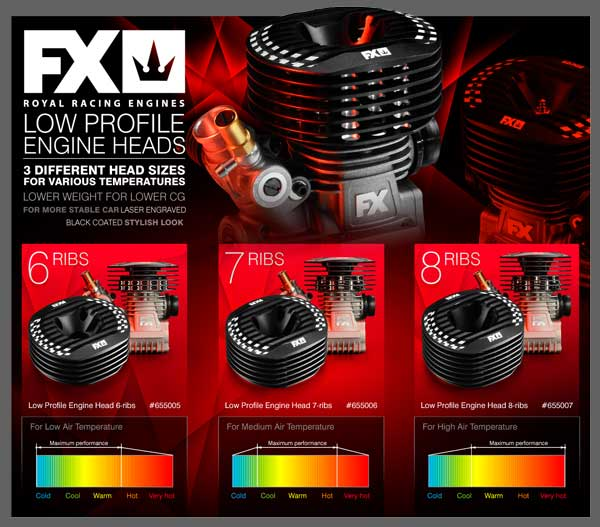 SMI FX-Engines FX Low Profile Motorkühlköpfe