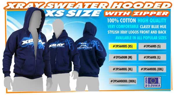 SMI XRAY News XRAY Sweater Hooded with Zipper (XS)