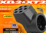 SMI XRAY News XB2 Graphit Radträger Hinten