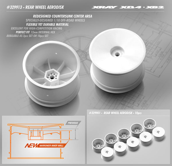 SMI XRAY News XB2 & XB4 Aerodisk V2 Hinterradfelgen