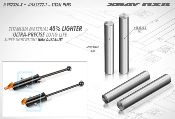 SMI XRAY News Xray Titan Stifte RX8