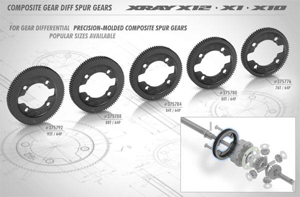 SMI XRAY News Xray 64 Pitch Getriebe Diff. Zahnräder