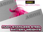 SMI HUDY News HUDY Edelstahl Batteriefach Gewichte