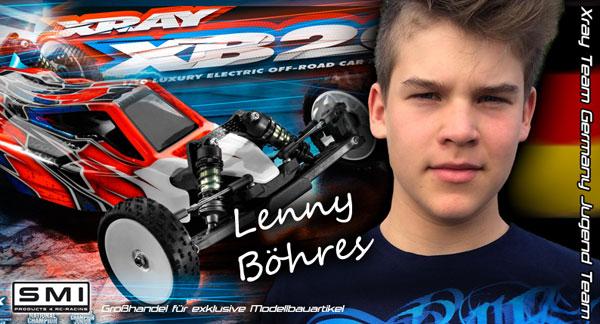 SMI Motorsport News Lenny Böhres mit XRAY, SMI ...