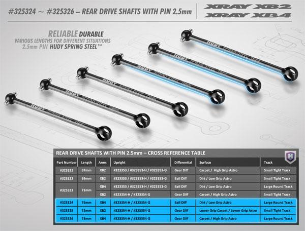 SMI XRAY News Hintere Antriebswellen für XB2/XB4