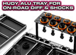 SMI HUDY News Alu-Tablett für On-Road Diff & Shocks