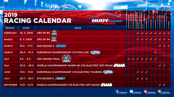 SMI Motorsport News Hudy Arena Racing Calendar ´19