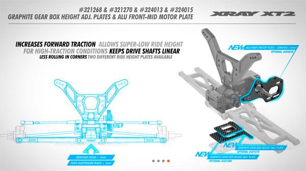 SMI XRAY News XT2 Einstellbare Getriebehöhe