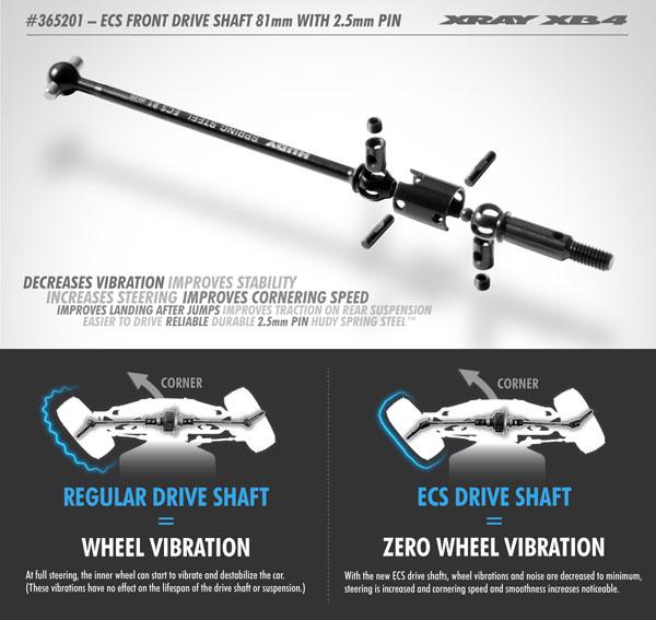 SMI XRAY News XB4 ECS Antriebswelle vorn