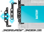 SMI XRAY News XB2 Alu + Graphit Batteriehalter