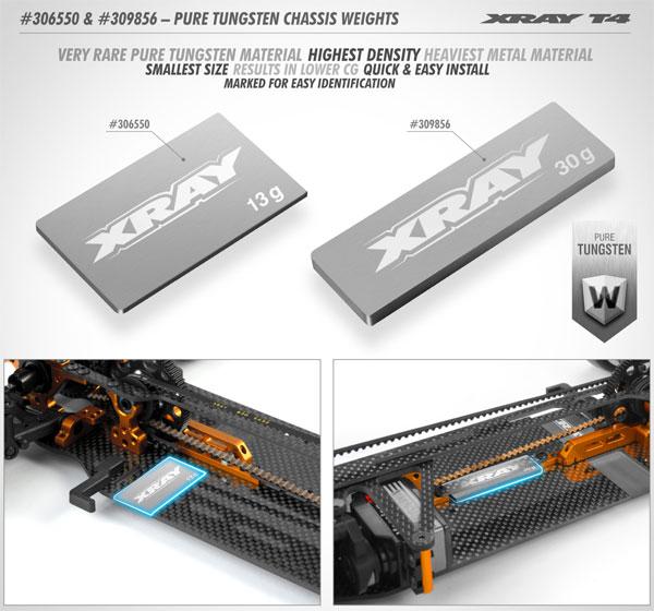 SMI XRAY News XRAY T4 Wolfram Chassis Gewichte