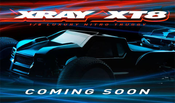 SMI XRAY News XRAY XT8 is coming soon.