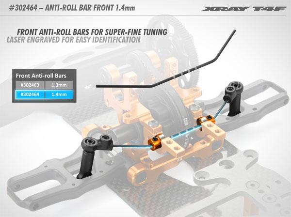 SMI XRAY News T4F Stabilisator vorne 1,4 mm