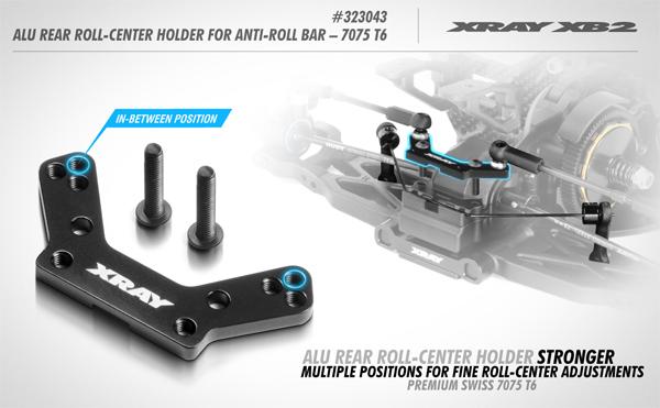 SMI XRAY News XB2 Alu Rear Roll-Center Holder