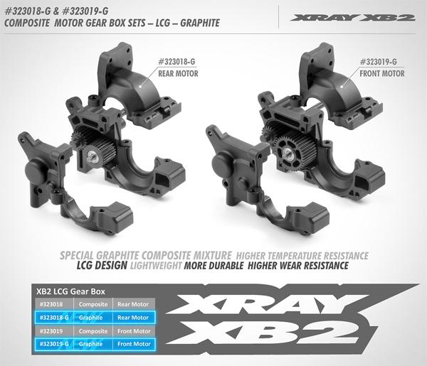 SMI XRAY News XB2´20  Graphit Motor/Getriebegehäuse