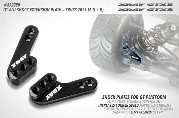 SMI XRAY News Neue GT Alu Stoßdämpferplatten (L+R)