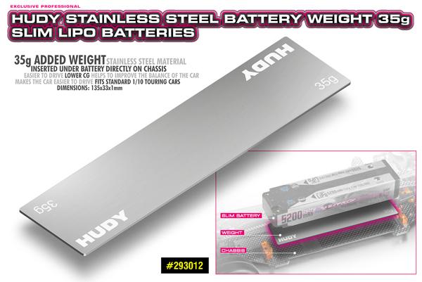 SMI HUDY News Edelstahl Batterie Gewicht 35g