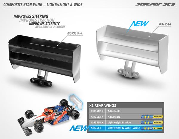 SMI XRAY News X1 Composite Heckflügel / Leicht & Breit
