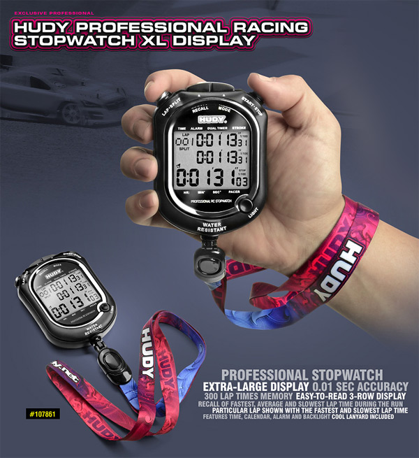 SMI HUDY News Professional Racing Stoppuhr XL Display