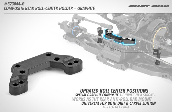 SMI XRAY News XB2 Composite Rear Roll-Center Holder