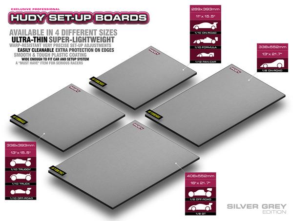 SMI HUDY News HUDY Flat Setup Board Light Silbergrau