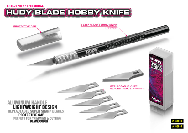 SMI HUDY News HUDY Blade Hobby Messer mit Alu Griff