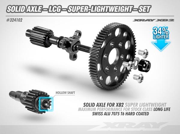 SMI XRAY News Xray XB2´21 lightweight solid axle set