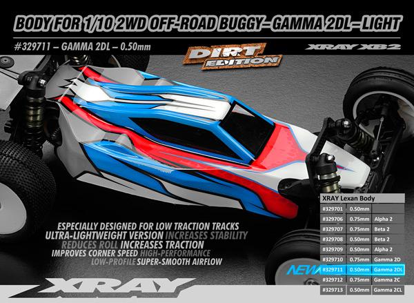 SMI XRAY News Neue 1/10 2WD Karosserie Gamma 2D