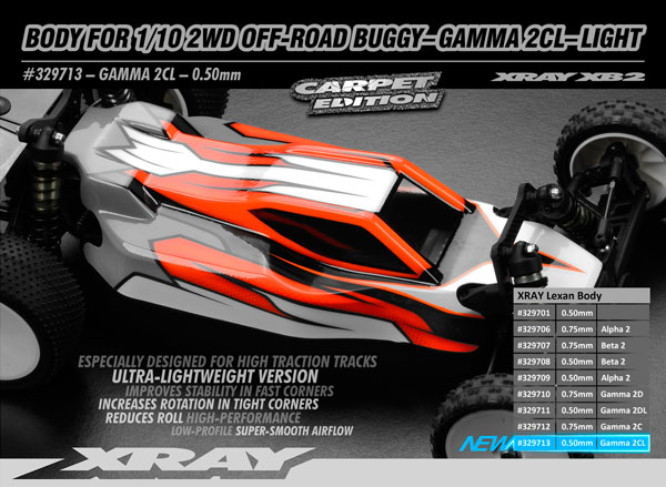 SMI XRAY News 1/10 2WD Karosserie Gamma 2C light