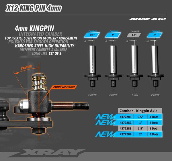 SMI XRAY News Neue X12´21 Kingpins 4mm