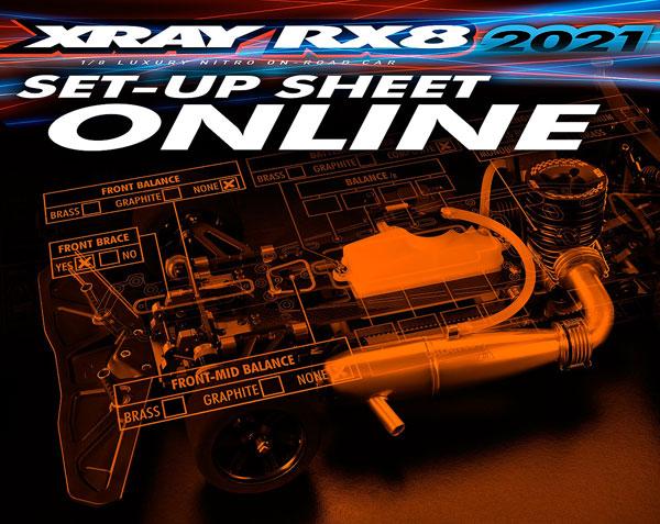 SMI XRAY News RX8´ 21 Set-Up sheet Online