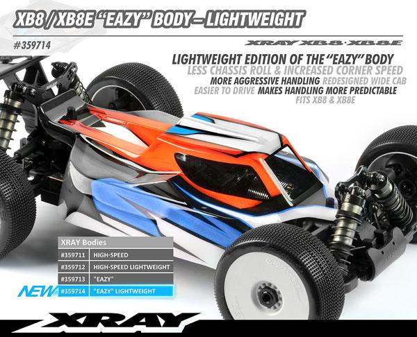 SMI XRAY News Neue XB8/XB8E ´Eazy Karosserie light