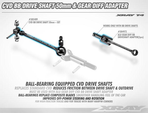 SMI XRAY News New T4 CVD BB Drive Shaft & Adapter