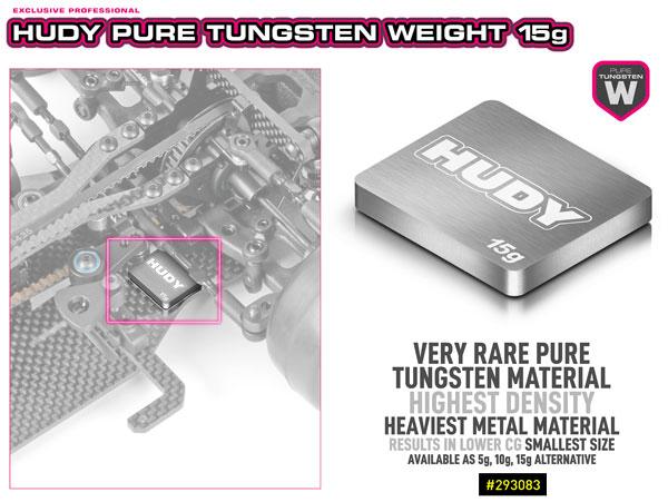 SMI HUDY News Hudy 15g Wolfram-Chassis Gewicht