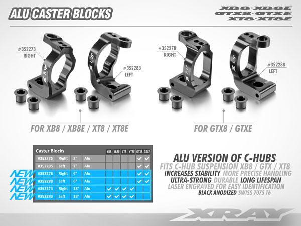 SMI XRAY News Xray New Alu Caster Blocks