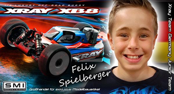 SMI Motorsport News Felix Sp. im SMI XRAY Junior Team