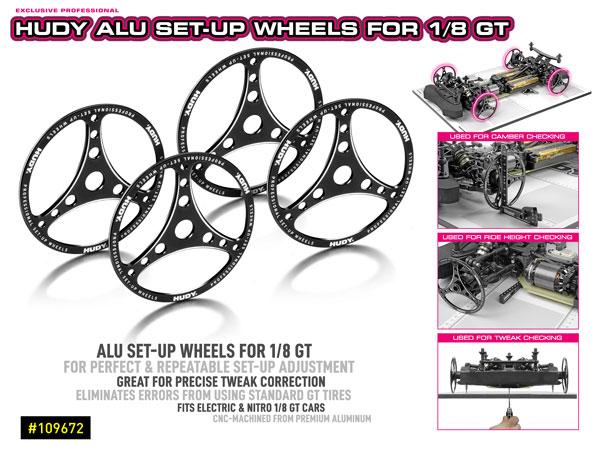SMI HUDY News Hudy 1/8th GT Alu Setup Räder