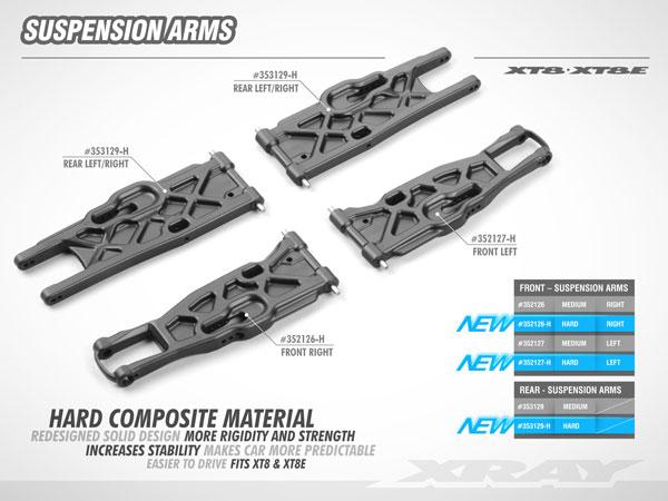 SMI XRAY News XT8 Composite Solid Lower Querlenker