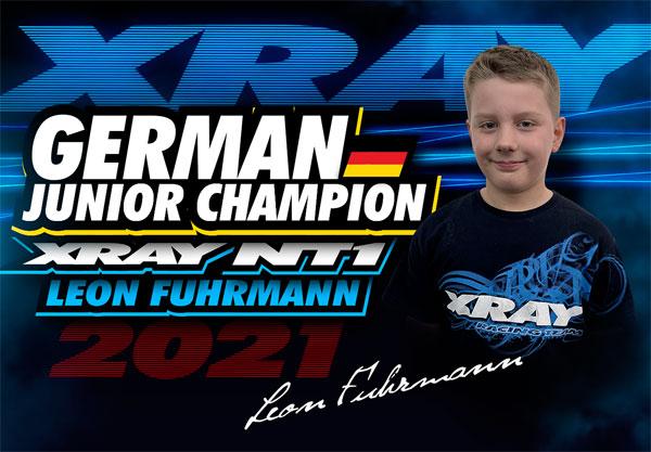 SMI XRAY News L.Fuhrmann ist D. Junior Meister VG10