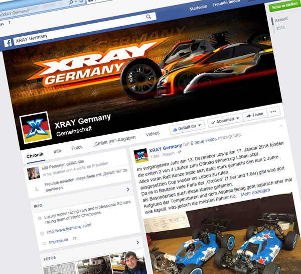 SMI XRAY News Facebook XRAY Germany