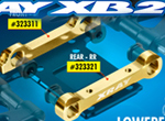 SMI XRAY News XB2 hintere Messing Querlenkerhalter