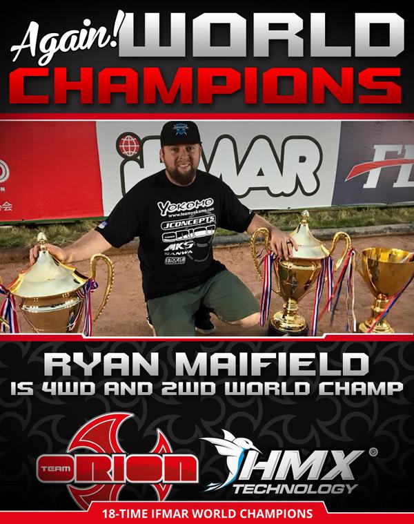 Absima Team Orion Ryan Mayfield schafft das Doppel